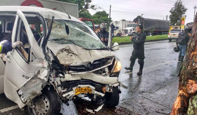 Varios accidentes se han presentado en las vías del Quindío