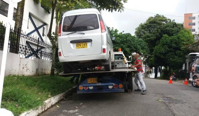 Vehículo inmovilizado en Ibagué