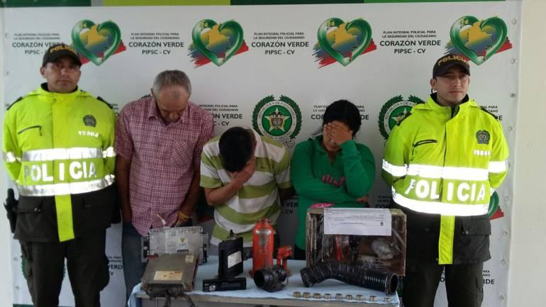 Autopartes Garagoa: Banda de ladrones de autopartes capturados en Garagoa, Boyacá