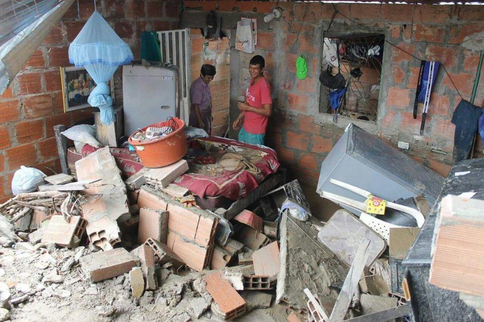 Se han censado  415 familias damnificadas y 1.062 personas afectadas, más seis heridos, de los cuales tres fueron remitidos a centros hospitalarios y ya fueron dados de alta.