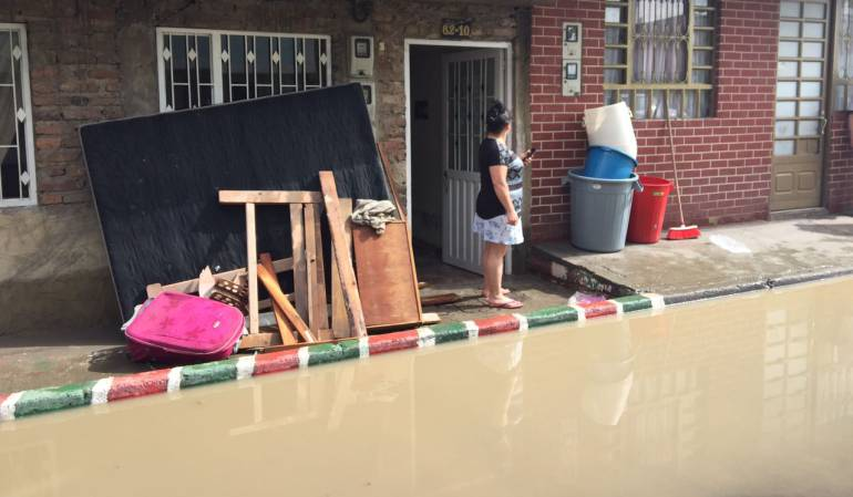 Inundación al sur en Bogotá