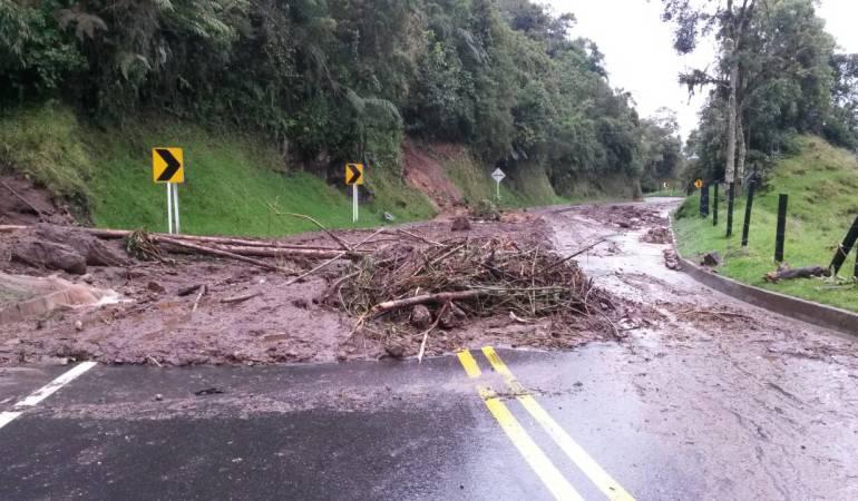 Vías afectadas por lluvias en el Tolima