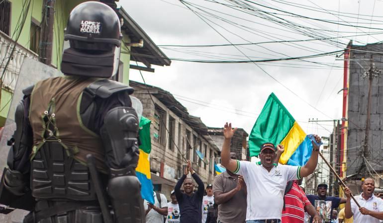 Se cumple el sexto día de paro cívico en Chocó, Colombia