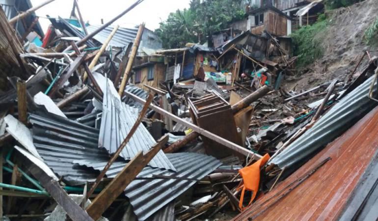 Manizales; deslizamiento; derrumbes; emergencias: La lluvia sigue generando emergencias en Caldas