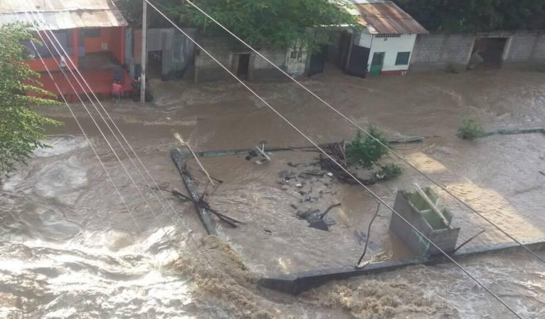 Sectores inundados de Honda, Tolima