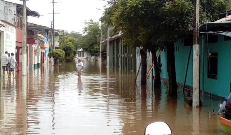 inundación; La Dorada; río Magdalena; Caldas;: El 45 por ciento de La Dorada está inundada