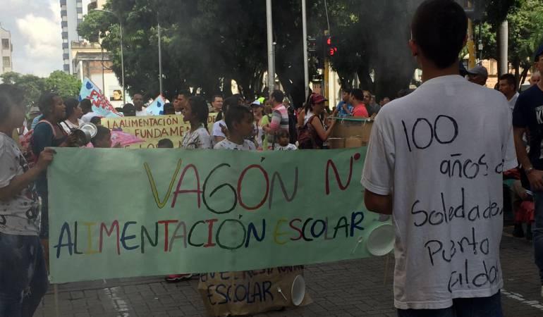 Con una protesta celebraron los 100 años de Puerto Caldas