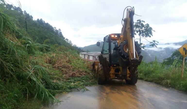Manizales; Caldas; invías; ministerio de transporte: Los deslizamientos por la lluvia le han costado al Invías 8 mil millones de pesos