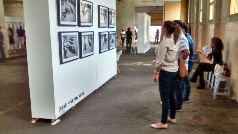Las obras exhibidas en la Feria del Millón Caribe.