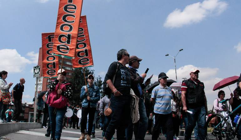 COLOMBIA: Estas son las vías por donde marchan los maestros este miércoles