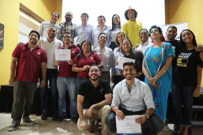 Cámara de Comercio de Cartagena y Telefónica Movistar premiaron cuatro emprendedores: Cámara de Comercio de Cartagena y Telefónica Movistar premiaron cuatro emprendedores