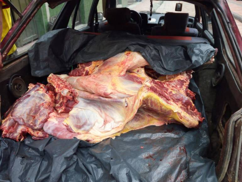 carne Boyacá: 90 kilos de carne en descomposición iban a ser distribuidos en Boyacá.