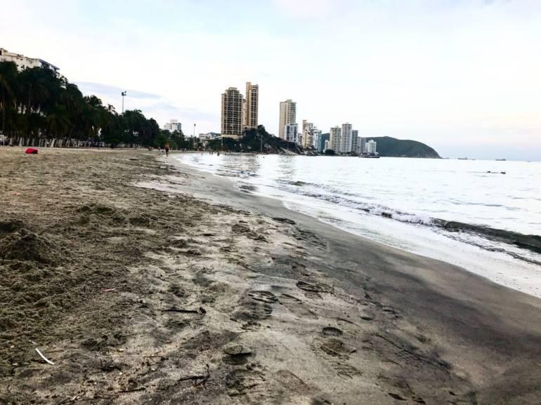 Bahía de El Rodadero. Fotografía Caracol Radio Santa Marta.