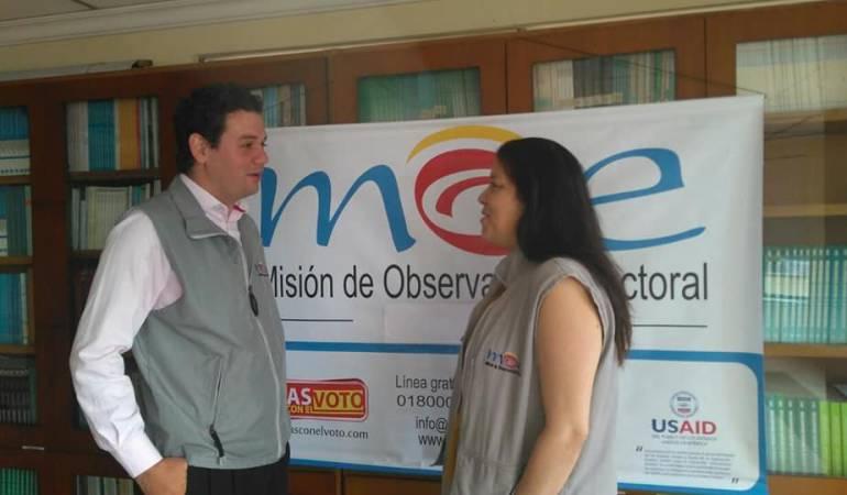 Directora nacional de la MOE, Alejandra Barrios