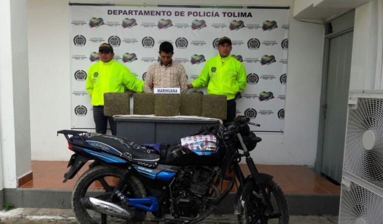 Incautación de marihuana en el sur del Tolima