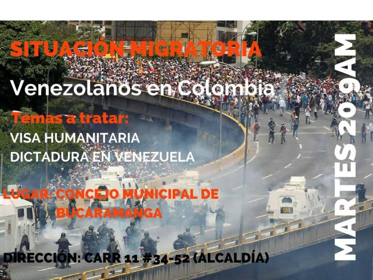 VENEZOLANOS MIGRACIÓN BUCARAMANGA CONCEJO: Por primera vez, desde que comenzó éxodo, concejo oirá a venezolanos