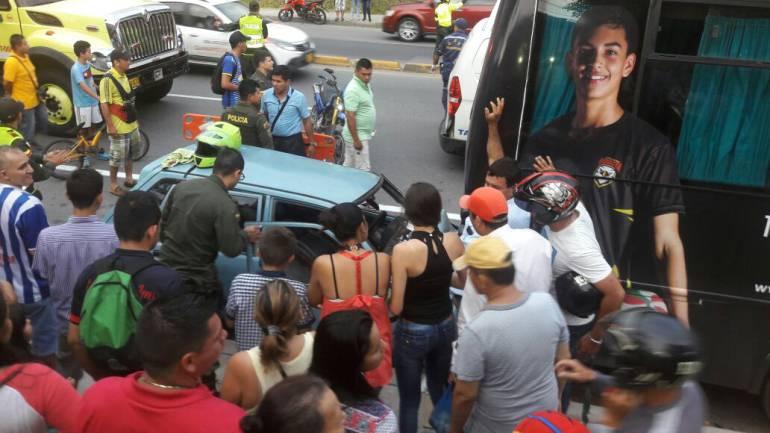 PLAN RETORNO PIEDECUESTA HERIDOS ACCIDENTE DE TRÁNSITO: 4 heridos en choque de dos vehículos, novedad en plan retorno