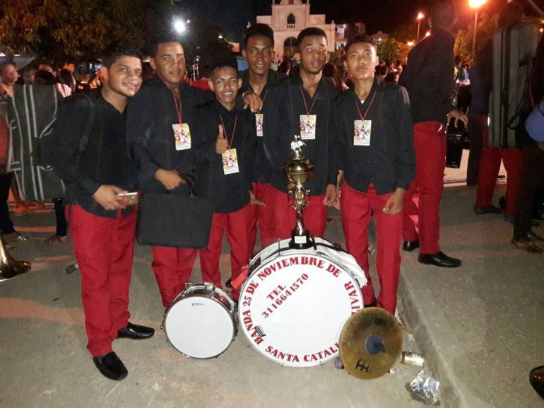 Banda 25 de Noviembre de Santa Catalina, Bolívar, gana en el Festival de Chochó: Banda 25 de Noviembre de Santa Catalina, Bolívar, gana en el Festival de Chochó