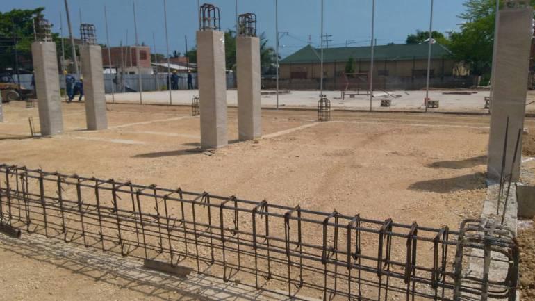 Complejo deportivo de La Candelaria, en Cartagena, avanza en un 40%: Complejo deportivo de La Candelaria, en Cartagena, avanza en un 40%