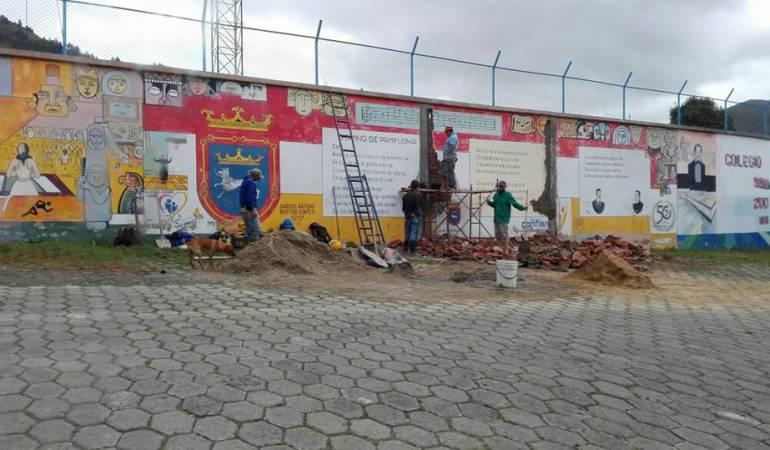 Polémica en Pamplona por construcción en un mural histórico