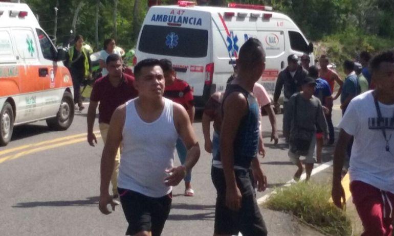 Accidente en carretera de Tubará, Atlántico deja tres muertos y 37 heridos
