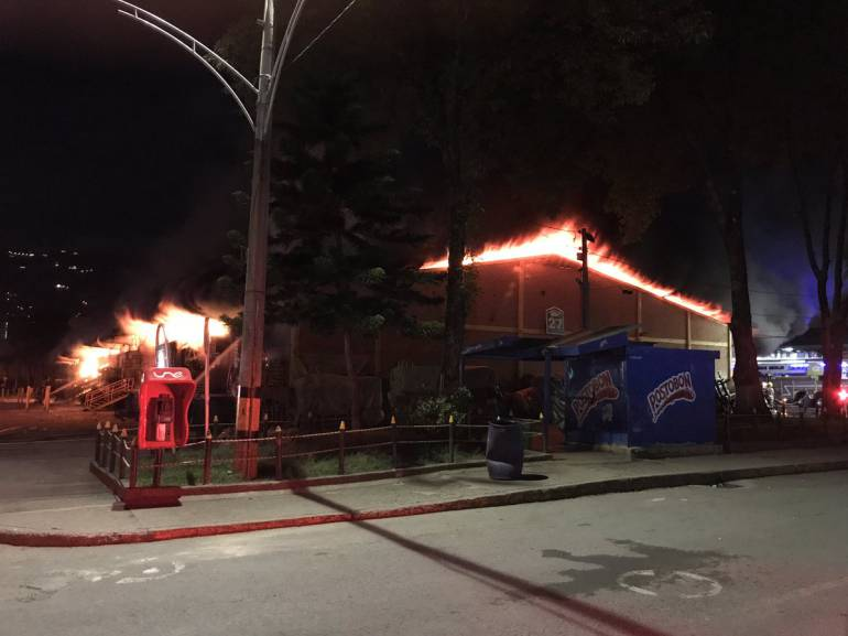 Incendio en el bloque 27 de la Central Mayorista