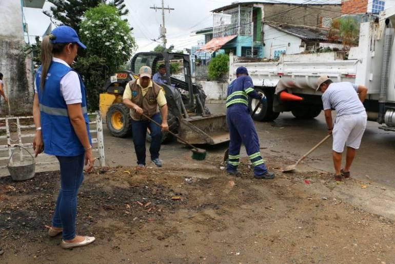 empresas de aseo realizaron operativos de limpieza en