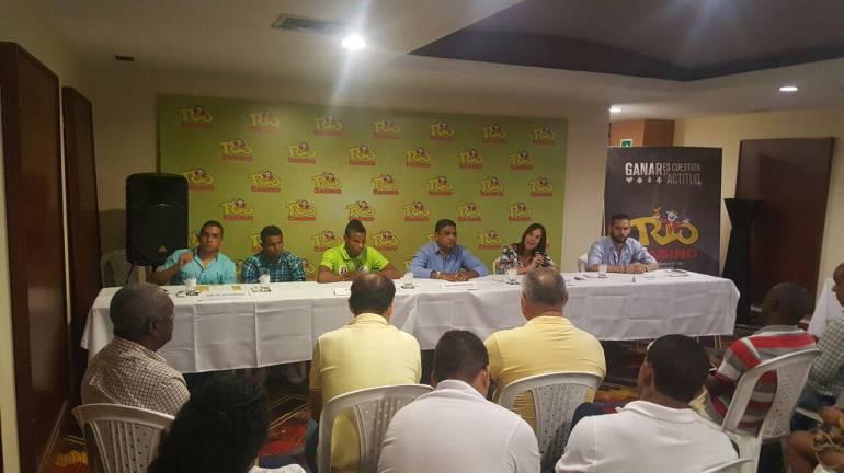 Lanzamiento de velada boxística con Yuberjén Martínez en Cartagena: Lanzamiento de velada boxística con Yuberjén Martínez en Cartagena