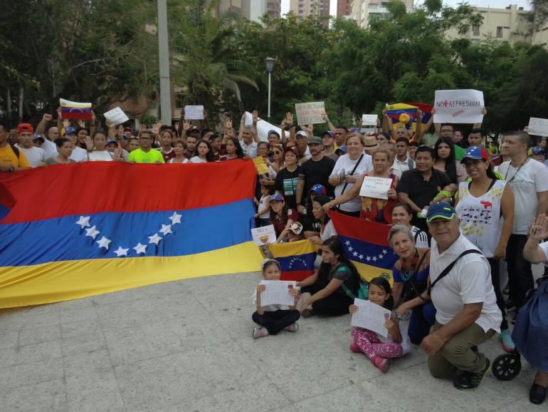 Venezolanos en Barranquilla.