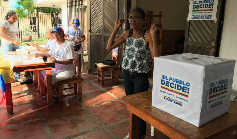 La señora Gladys Tolosa, venezolana. /FOTO CARACOL RADIOO