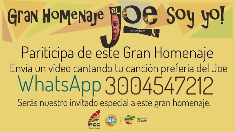 #JoeSoyYo, homenaje en redes al Joe Arroyo en Cartagena: #JoeSoyYo, homenaje en redes al Joe Arroyo en Cartagena