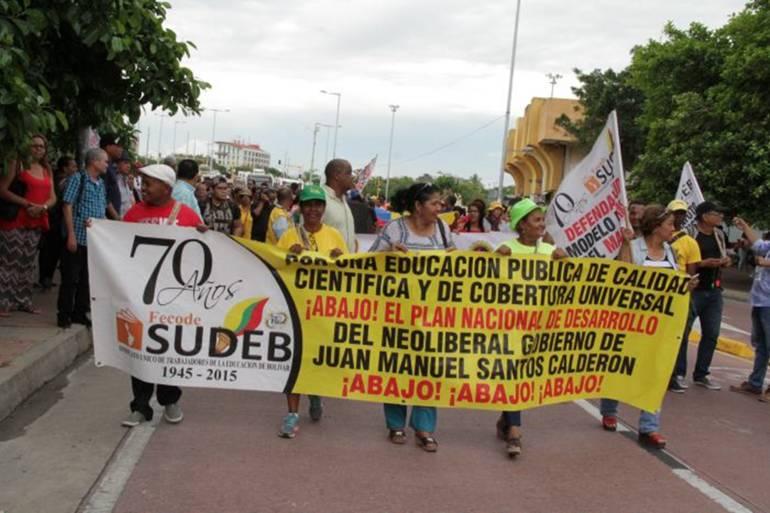 Pensionados, madres comunitarias y maestros anuncian marcha en Cartagena: Pensionados, madres comunitarias y maestros anuncian marcha en Cartagena