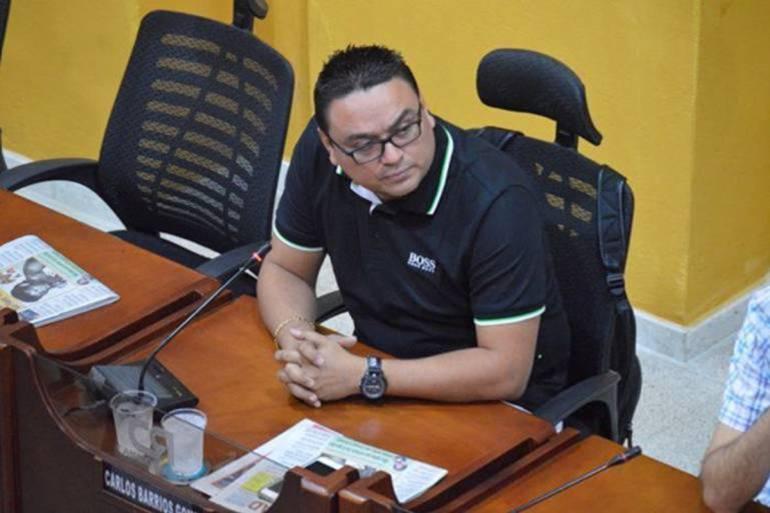 Juez ordena que se reintegre a Carlos Barrios como concejal de Cartagena: Juez ordena que se reintegre a Carlos Barrios como concejal de Cartagena
