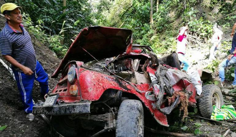 Accidente de tránsito municipio Planadas: A tres se eleva el número de personas fallecidas en accidente en Planadas
