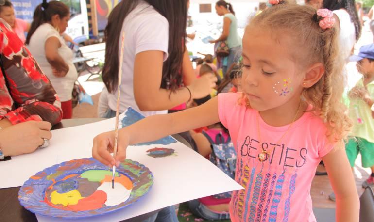 Los niños y niñas participan activamente. /FOTO ALCALDÍA