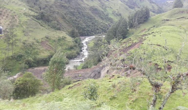 Deslizamiento en La Calera: Alerta en Cundinamarca por deslizamiento en La Calera
