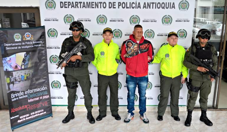 """Capturado alias el """"Zarco"""" presunto cabecilla del Clan del Golfo en Antioquia"""