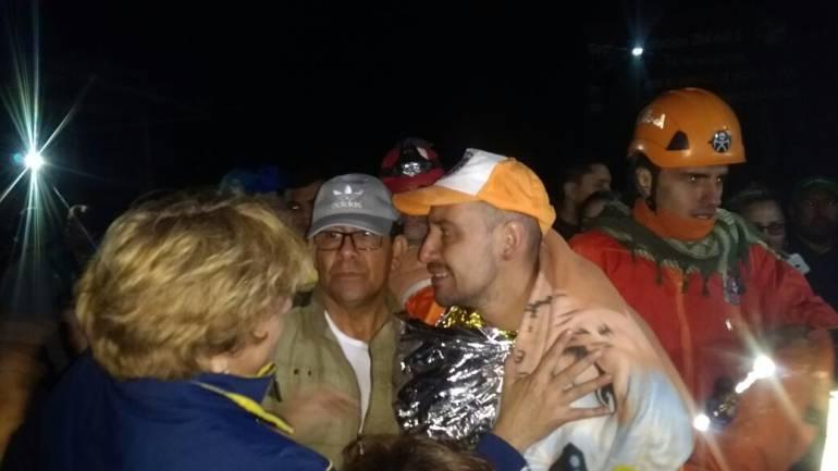 Uno de los rescatados del nevado del Tolima