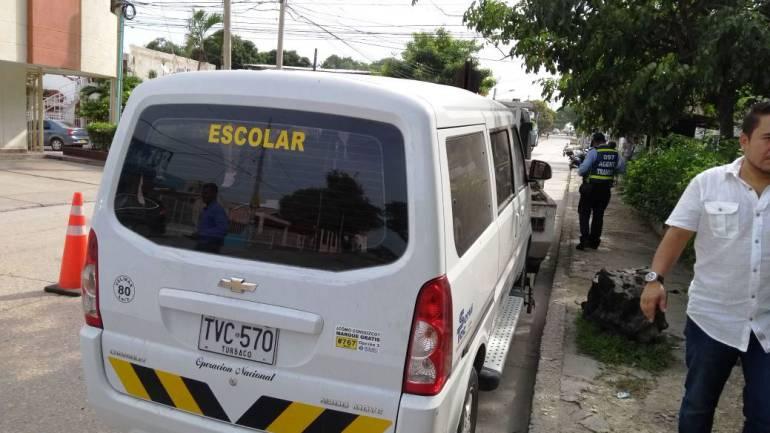 Inmovilizados cinco vehículos en operativos de transporte escolar en Cartagena: Inmovilizados cinco vehículos en operativos de transporte escolar en Cartagena