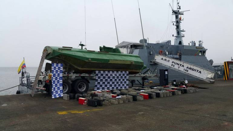Incautan sumergible del ELN: Armada se incauta sumergible eléctrico del ELN en el Pacífico