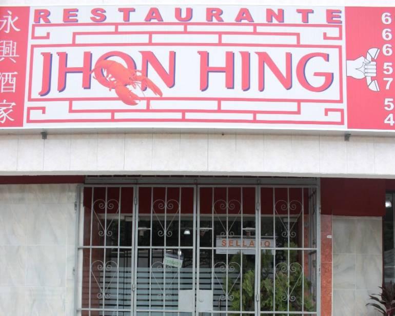 Restaurante Jhon Hing en Cartagena duró sellado 30 horas: Restaurante Jhon Hing en Cartagena duró sellado 30 horas