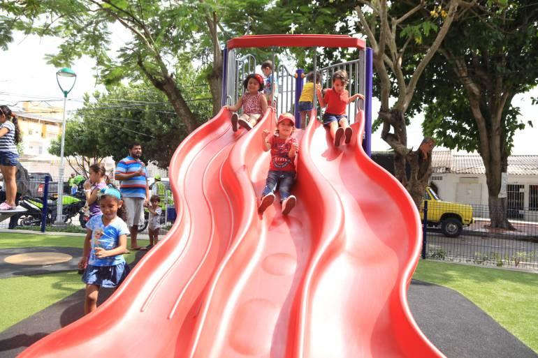 Parque Cristo Rey en Barranquilla.