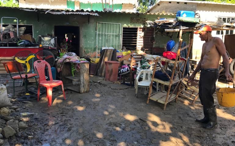Emergencia por desbordamiento de río en zona rural de Santa Marta — COLOMBIA