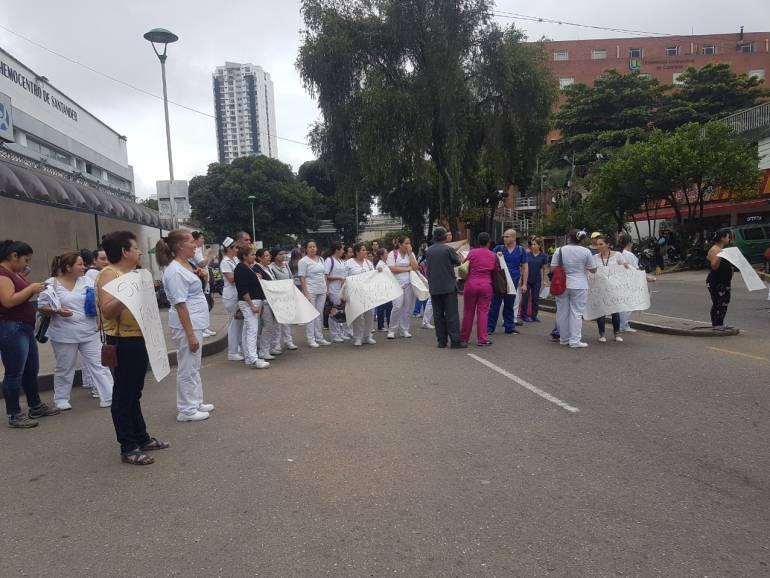 Sigue cese de actividades parciales de trabajadores del HUS: Sigue cese de actividades parciales en el Hospital Universitario de Santander