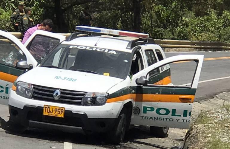 Un policía muerto y otro herido dejó hostigamiento en el Occidente antioqueño