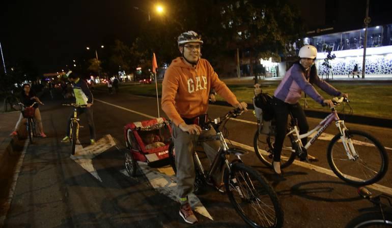 Este jueves habrá ciclovía nocturna por el Festival de Verano en Bogotá