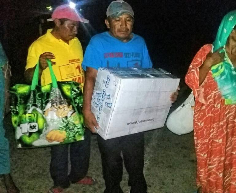 Familiares de menor Wayuu que falleció en Barranquilla.