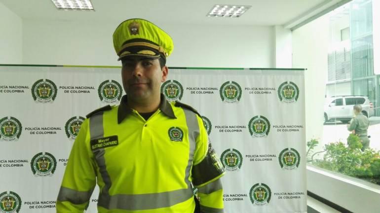 Mayor Gustavo Chaparro, comandante de policía de Transito de Barranquilla.