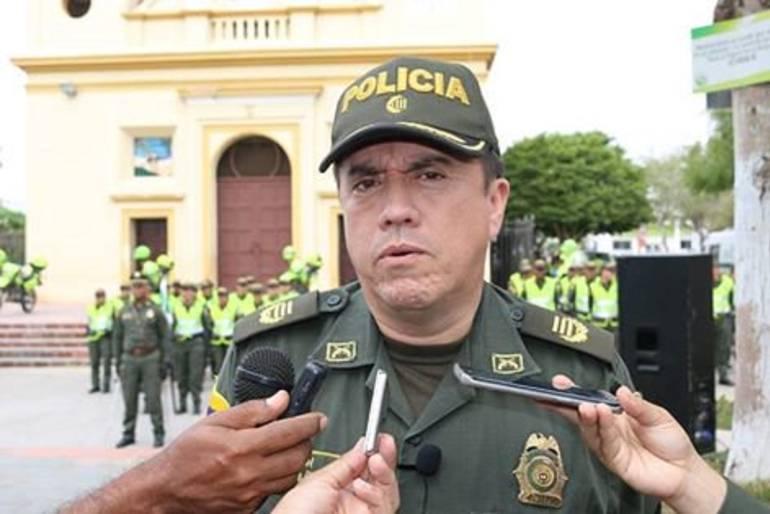 Coronel Raúl Riaño, comandante de la Policía del Atlántico.