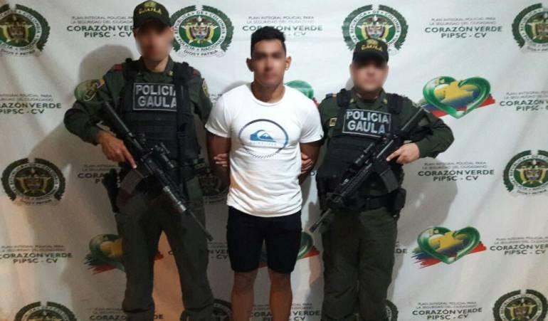 En un centro comercial de Cartagena, capturan a presunto extorsionista